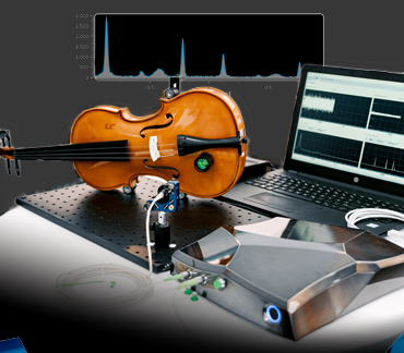 quDIS - Vibration analysis of a violin